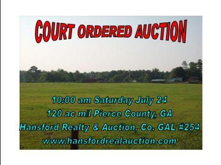 Court Ordered Auction : Blackshear : Pierce County : Georgia