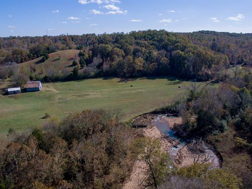 130 Acres On Hurricane Creek : Tennessee City : Humphreys County : Tennessee