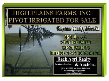 High Plains Farms, Inc Pivot Irr : Potter : Cheyenne County : Nebraska