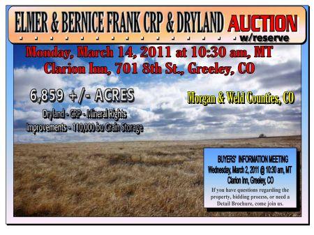 Elmer & Bernice Frank Crp & Dryland : Greeley : Adams County : Colorado