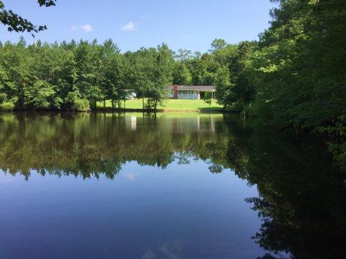 Cabin And Lake At River Road : Elberton : Elbert County : Georgia