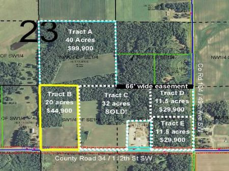 Cass, May, 1343123, Tract B : Pillager : Cass County : Minnesota
