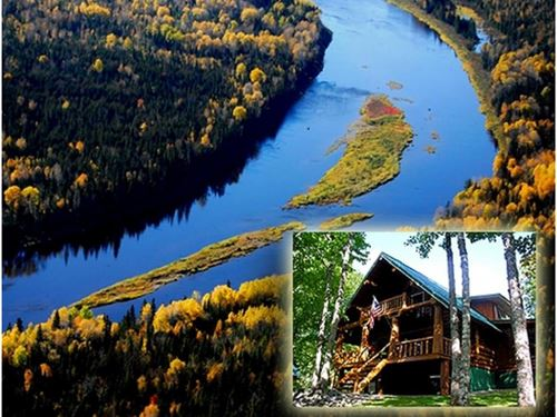 Moose Island Lodge & Cabins : Masardis : Aroostook County : Maine