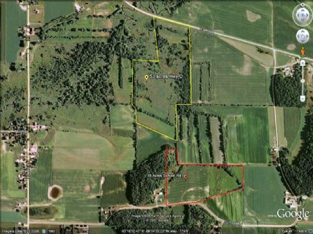 35 Acre Hilltop Building Site : Town Of Troy : Sauk County : Wisconsin