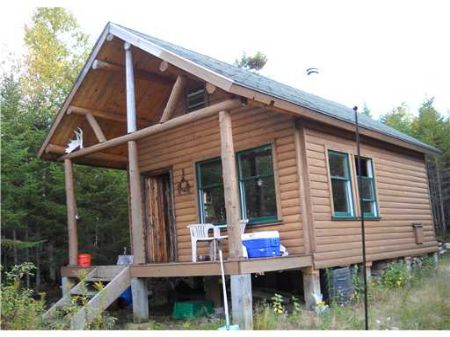 Hand Built Log Cabin On 80 Acres : Upper Enchanted : Somerset County : Maine