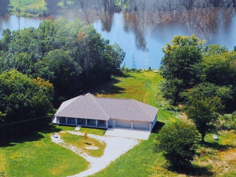 351 Ac. 5br Home, Hunting, 2 Lakes : Lagrange : Lewis County : Missouri