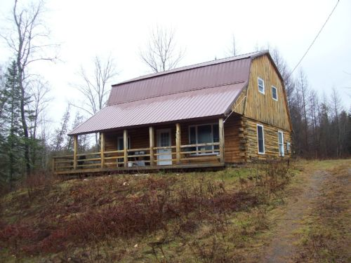 Great Log Cabin : Parkman : Piscataquis County : Maine