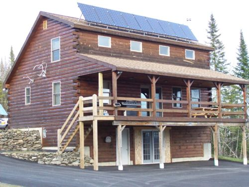 Solar Log Home : Wallagrass : Aroostook County : Maine