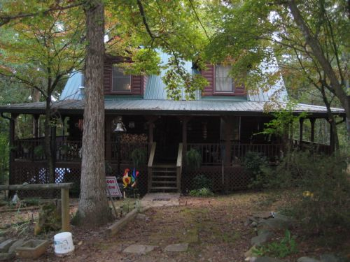 Log Home On 10 Ac. With Pasture : Cartersville : Bartow County : Georgia