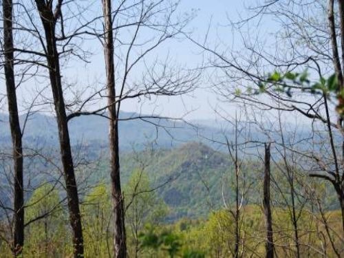 View 3 States Atop This Mountain : Hot House : Cherokee County : North Carolina