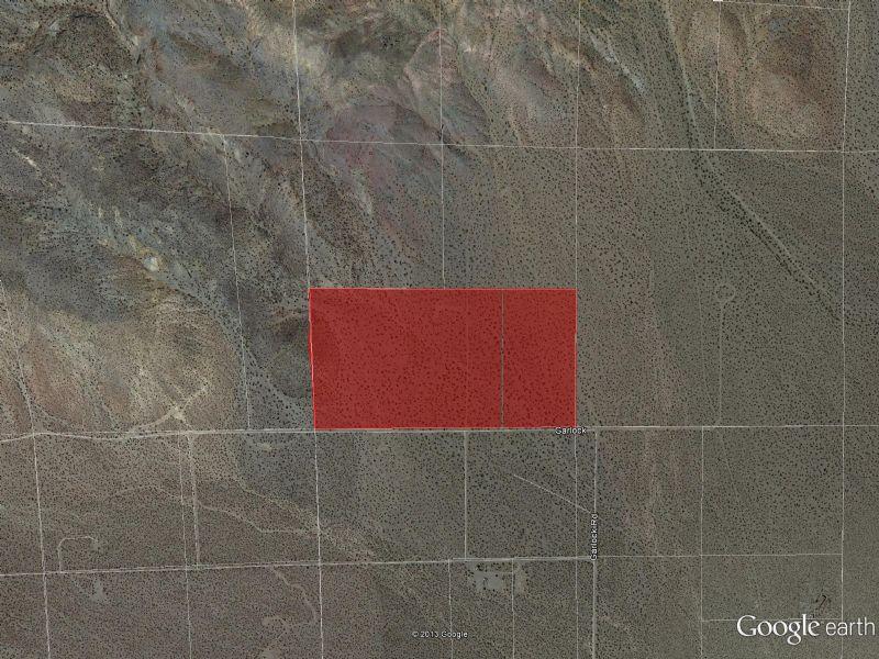 20 Acre Lot Near California City : California City : Kern County : California
