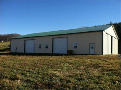 5 +/- Acres & Pole Building : Ringtown : Schuylkill County : Pennsylvania