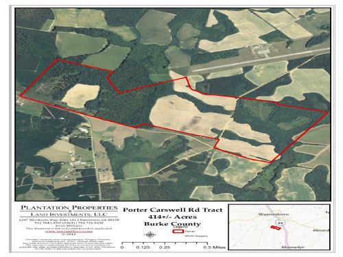 414+/- Acres Porter Carswell Farm : Waynesboro : Burke County : Georgia