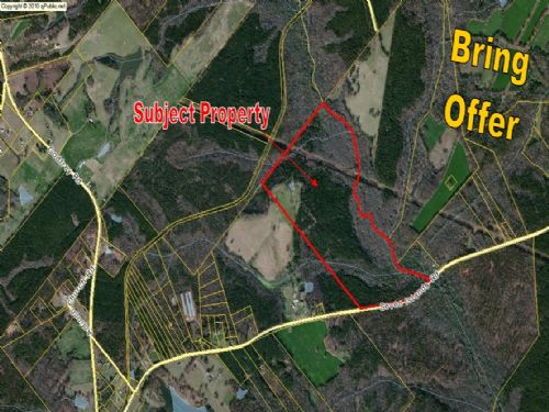 ±199 Acres Bordered By A Creek : Madison : Morgan County : Georgia
