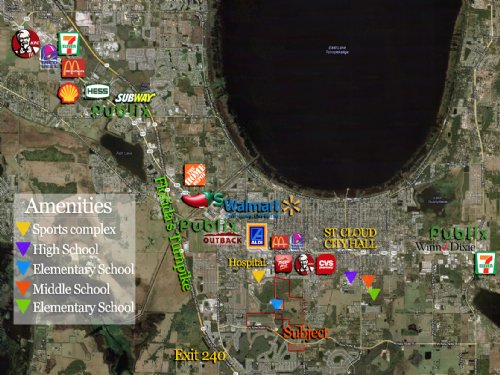 6 Retail Lots Remain : Saint Cloud : Osceola County : Florida