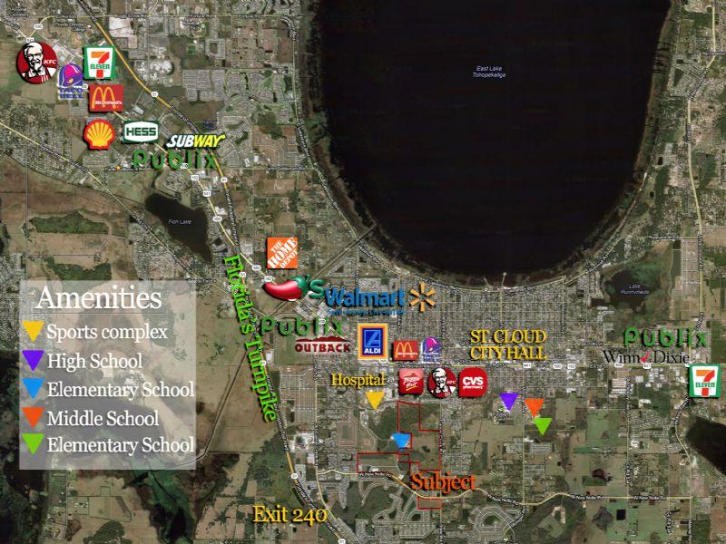 6 Retail Lots Remain : Saint Cloud : Osceola County : Florida