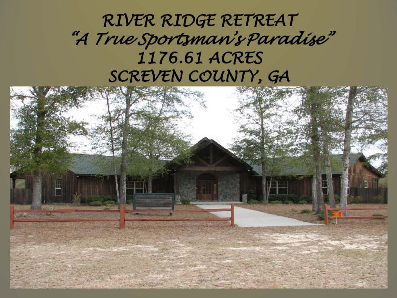 River Ridge Retreat : Sylvania : Screven County : Georgia