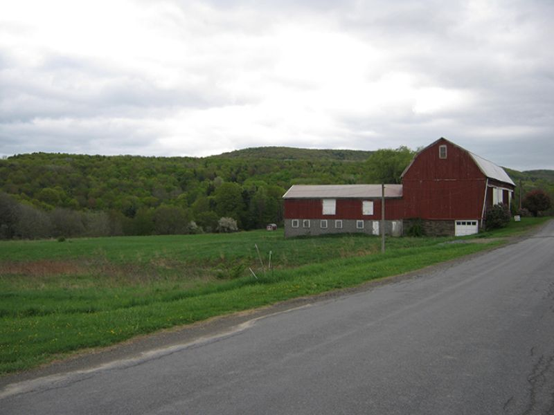 10 Acres With Large 3 Story Barn : Newfield : Tompkins County : New York