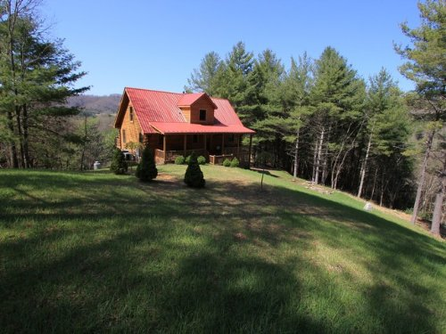 Log Home In Blue Ridge Mtn. : Mouth Of Wilson : Grayson County : Virginia