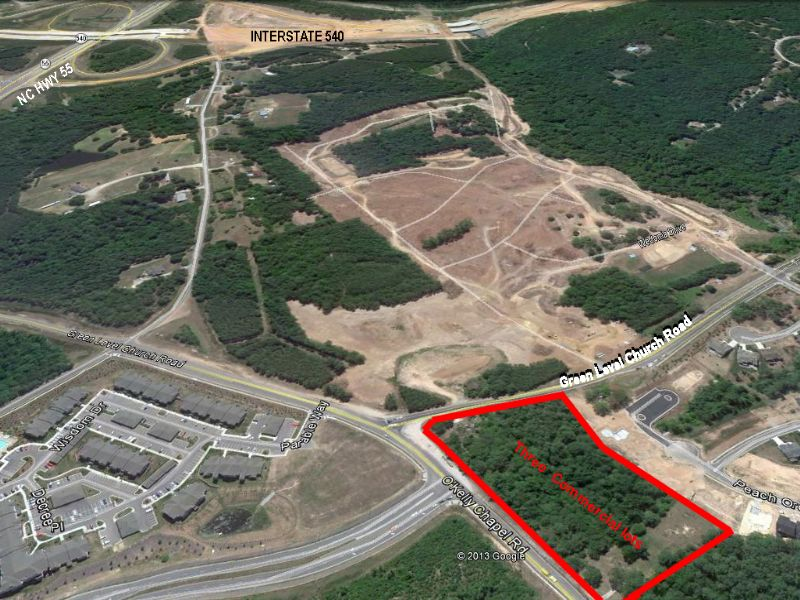 Commercial Tract In Cary, Nc : Cary : Wake County : North Carolina
