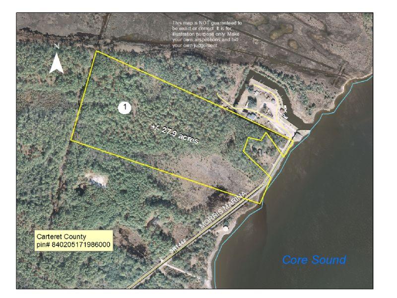 Waterfront Lot On Carteret County : Atlantic : Carteret County : North Carolina
