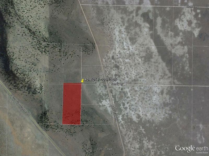 20 Acre Parcel Near Susanville : Susanville : Lassen County : California