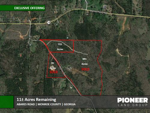 11 Acres Abares Road : Forsyth : Monroe County : Georgia