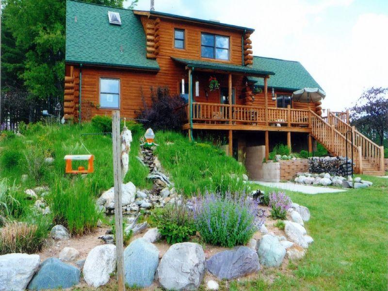 Log Home Plus Acreage : Cadillac : Wexford County : Michigan