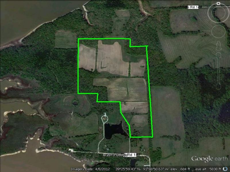 90 Acres Backs To Corp Ground : Perry : Monroe County : Missouri
