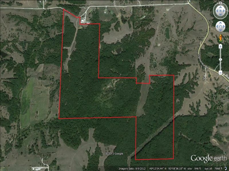 224 Acres And Cabin : Milan : Sullivan County : Missouri