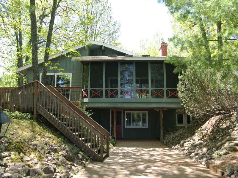 Two Sisters Lake Home : Newbold : Oneida County : Wisconsin