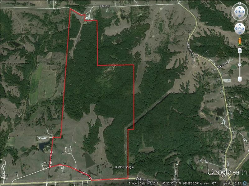 294 Acres, Hunting Cabin, And Home : Milan : Sullivan County : Missouri