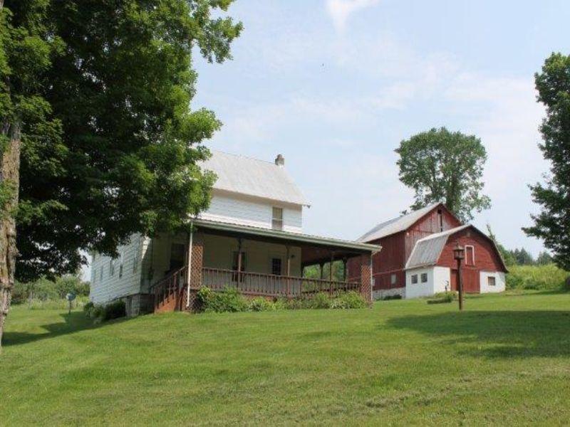 16 Acres Farmhouse Farmland Barn : Norway : Herkimer County : New York