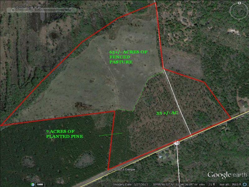 105 Acre Ranch : Woodbine : Camden County : Georgia
