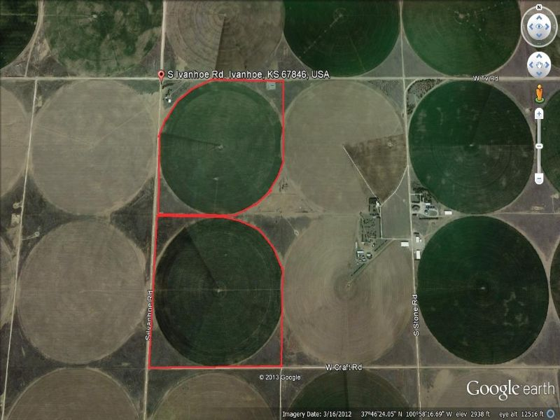 300 Acres Of Highly Productive Land : Garden City : Finney County : Kansas