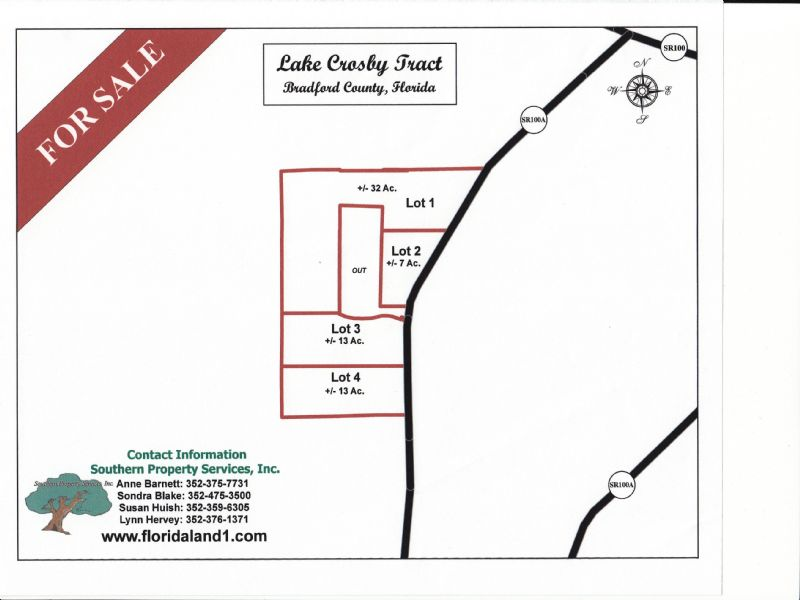 12.32 Acres - Lot 3 West Of Starke : Starke : Bradford County : Florida