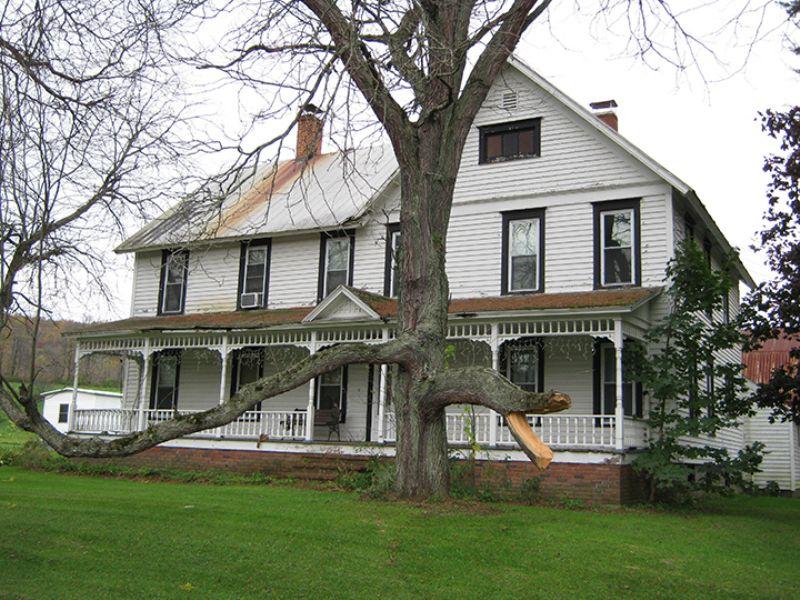 100 Acres Farmhouse Barn Pond : Locke : Cayuga County : New York
