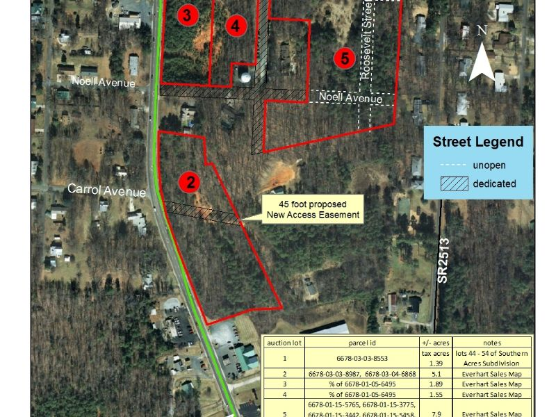 Residential & Commercial Tracts-nc : Denton : Davidson County : North Carolina