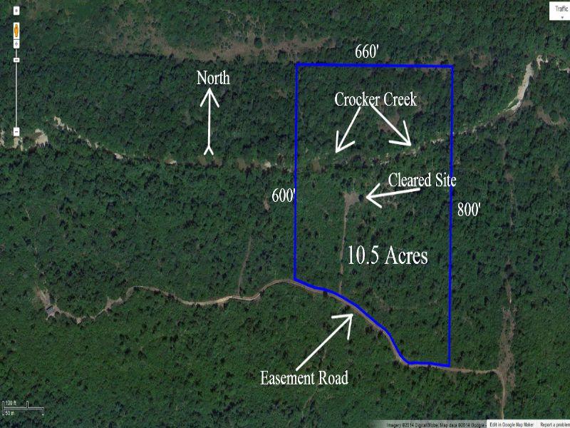 $500 Down, 10 Ac On Crocker Creek : Hartville : Wright County : Missouri