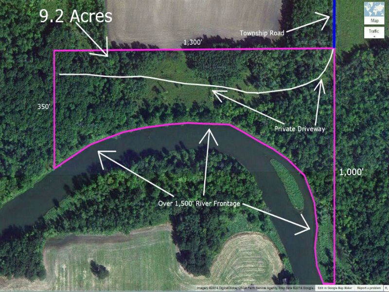 Riverfront Acreage For $500 Down : Thief River Falls : Pennington County : Minnesota