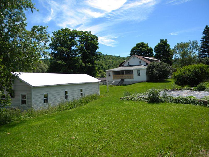 134 Acres Amish Sheep Farm Pond : Troupsburg : Steuben County : New York
