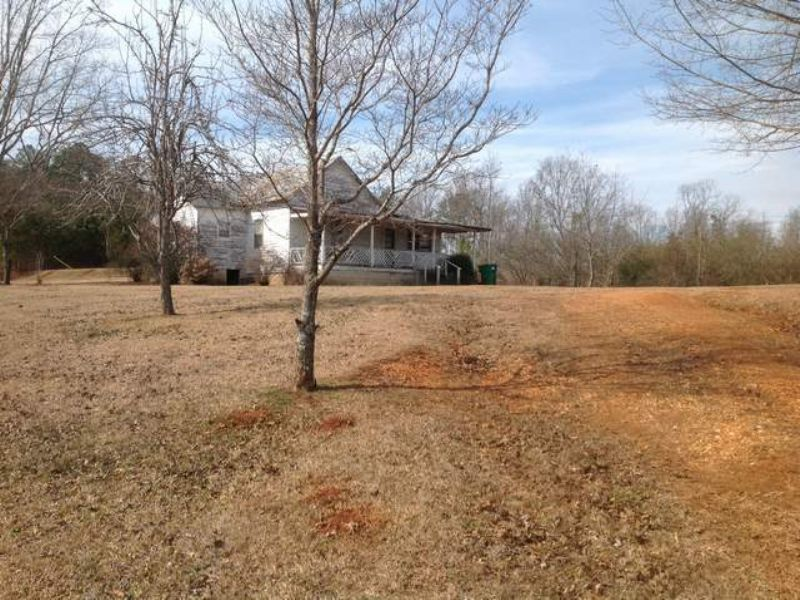 House And 14+/- Acres : Ranburne : Cleburne County : Alabama