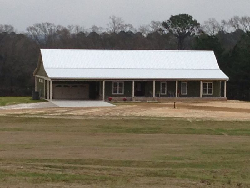 New 3br/2ba Home On 27 +/- Ac : Goshen : Pike County : Alabama