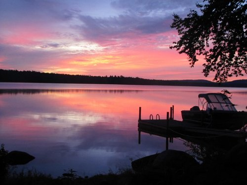 Log Home Retreat On Junior Lake : Lakeville : Penobscot County : Maine