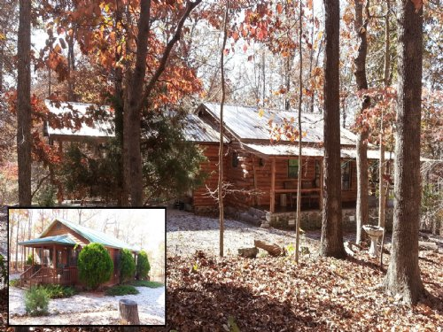 2 Rustic Cabins On 46+/- Acres : Mountain View : Stone County : Arkansas