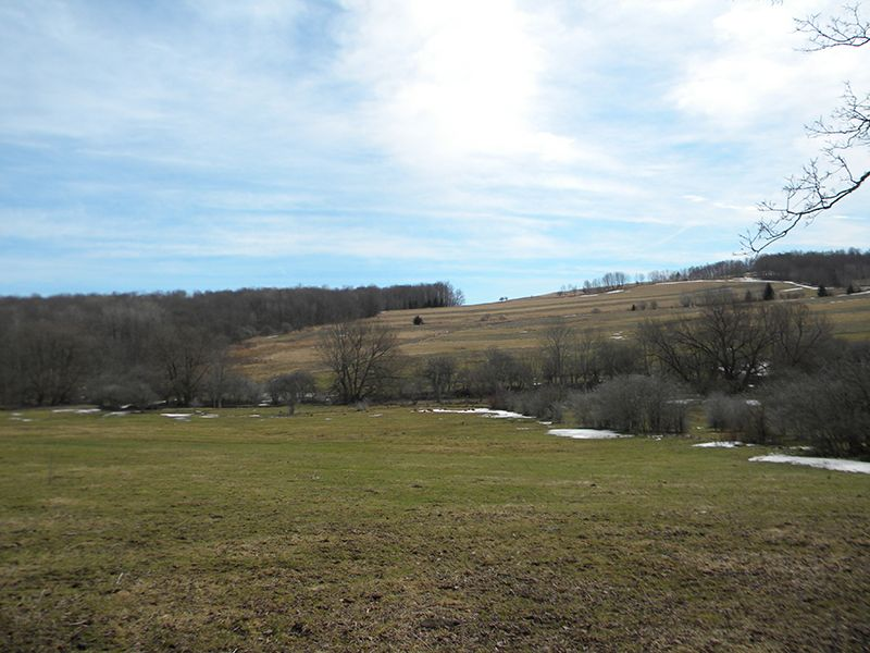 Mixed Farmland In The Finger Lakes : Freetown : Cortland County : New York