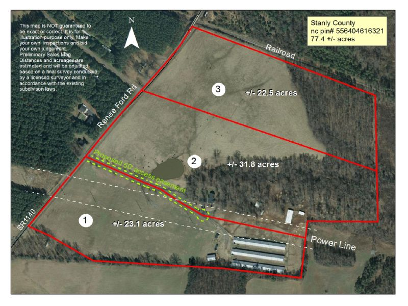 77 Acre Farm, Turkey Houses And Hom : Stanfield : Stanly County : North Carolina