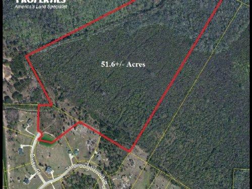 51.6 Acre Private Country Homesite : Woodbine : Camden County : Georgia