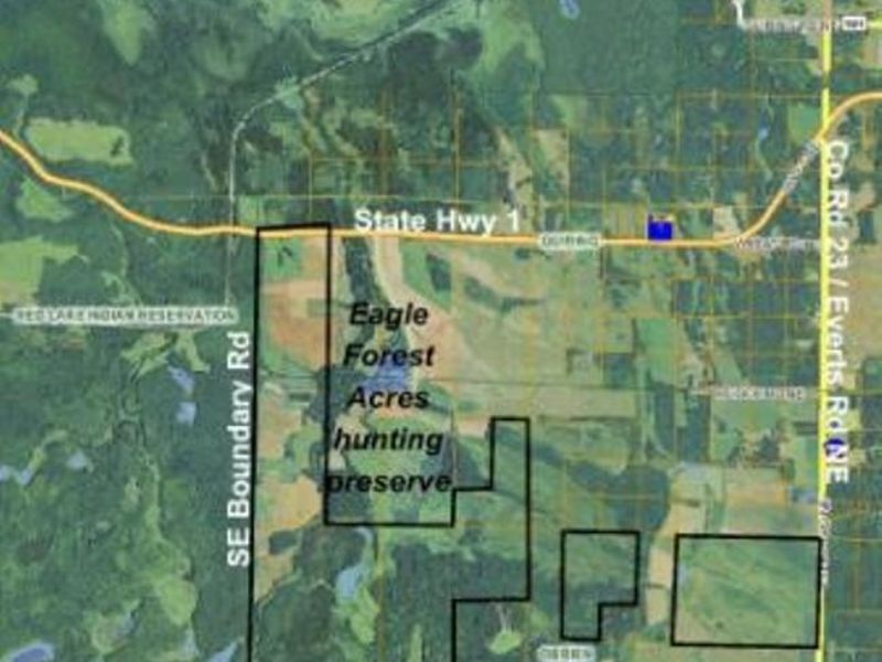 Approx 2,700 Acres By Red Lake : Blackduck : Beltrami County : Minnesota