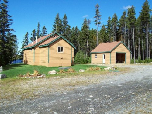 Grace Pond Cabin On 74 Acres : The Forks : Somerset County : Maine